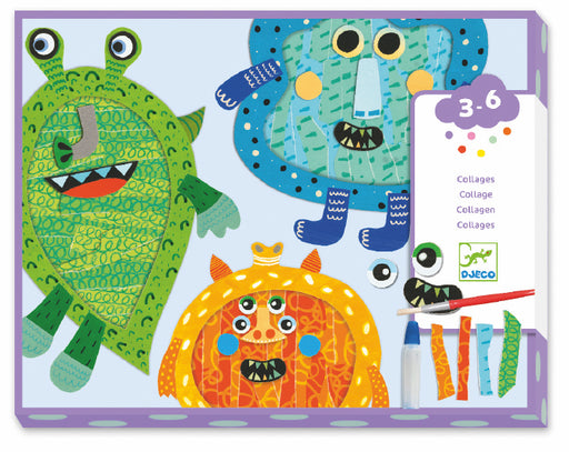 Happy Monsters Tear & Stick Collage Set - JKA Toys