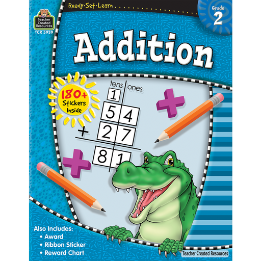 Ready Set Learn Workbook: Addition - Grade 2 - JKA Toys