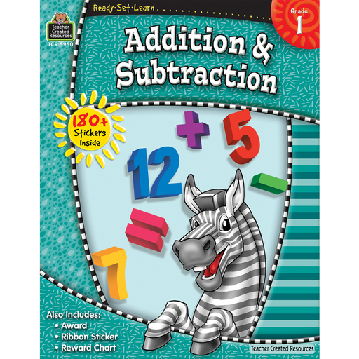 Ready Set Learn Workbook: Addition & Subtraction - Grade 1 - JKA Toys