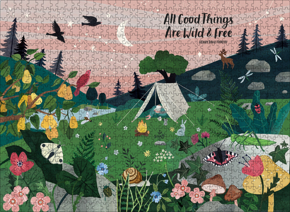 1000 Piece All Good Things Are Wild & Free Puzzle - JKA Toys