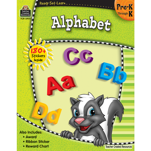 Ready Set Learn Workbook: Alphabet - Grade Pre-K - K - JKA Toys