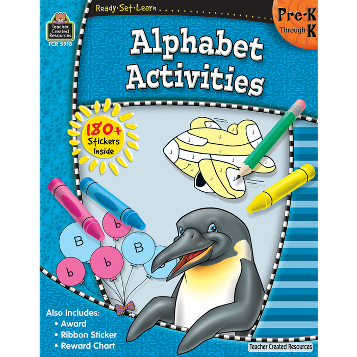 Ready Set Learn Workbook: Alphabet Activities - Grades Pre-K - K - JKA Toys