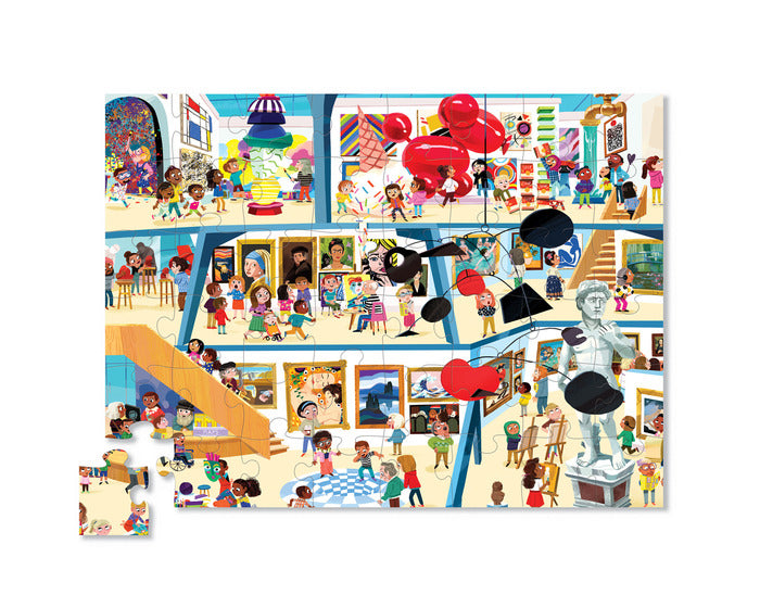 48 Piece Day At The Art Museum Puzzle - JKA Toys