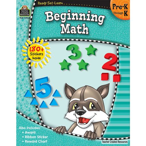 Ready Set Learn Workbook: Beginning Math - Grades Pre-K - K - JKA Toys