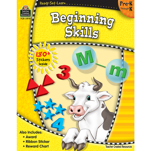 Ready Set Learn Workbook: Beginning Skills - Grades Pre-K - K - JKA Toys