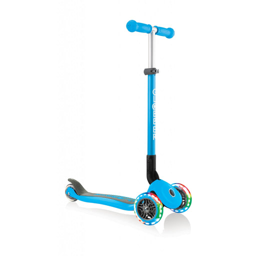 Globber Primo Blue Foldable Scooter with Light Up Wheels - JKA Toys
