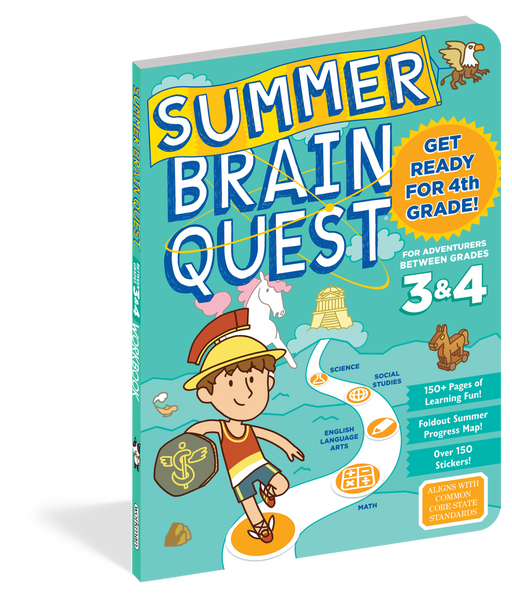 Summer Brain Quest: Between Grades 3 & 4 - JKA Toys
