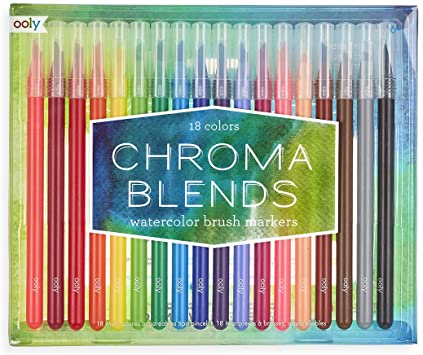 Chroma Blends Watercolor Brush Markers - JKA Toys