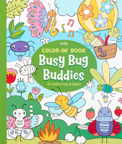 Busy Bug Buddies Coloring Book - JKA Toys