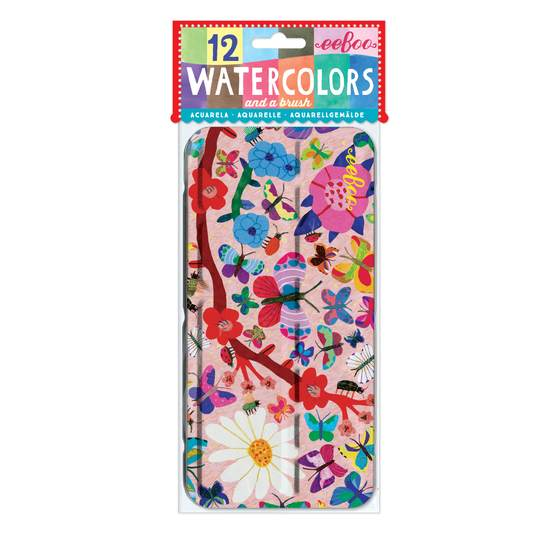 Butterflies Watercolors and Brush Set - JKA Toys