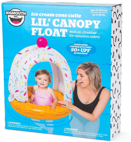 Lil' Cute Ice Cream Cone Float With Canopy - JKA Toys