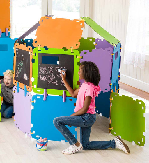 Colorblock Chalkboard Built A Fort Kit - JKA Toys