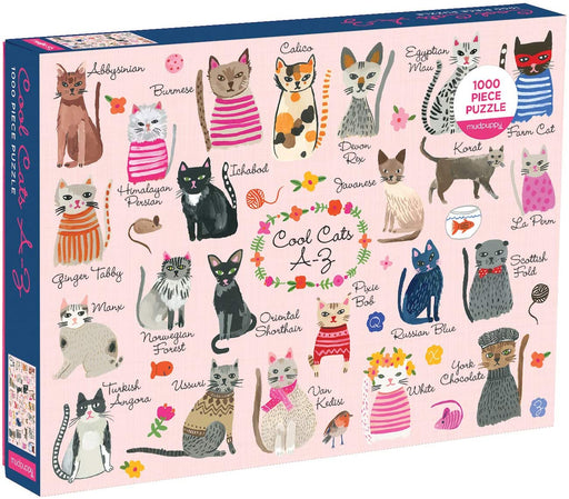 1000 Piece Cool Cats A-Z Puzzle - JKA Toys