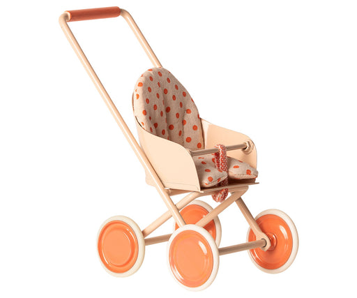 Maileg Micro Stroller - Soft Coral - JKA Toys