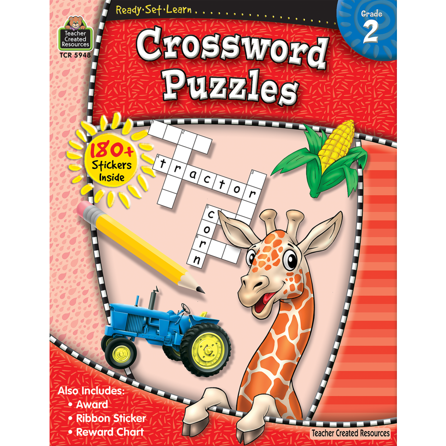 Ready Set Learn Workbook: Grade 2 - Crossword Puzzles - JKA Toys