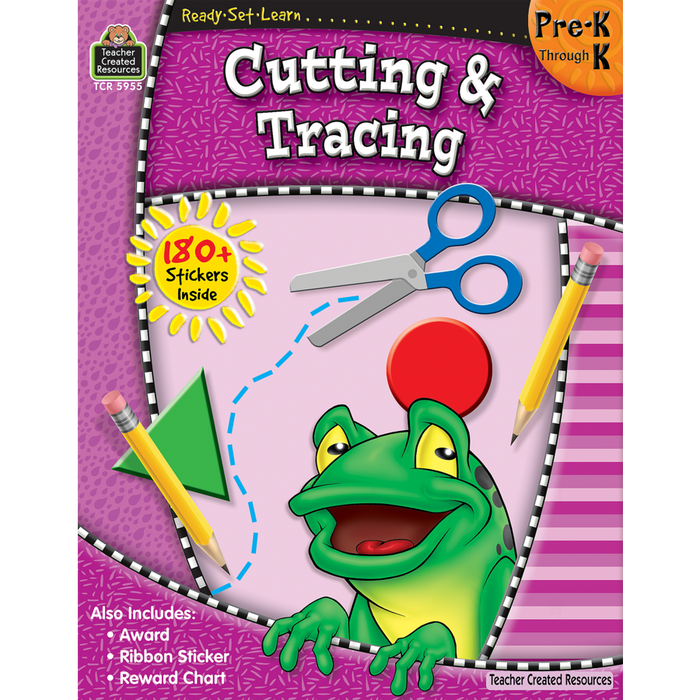 Ready Set Learn Workbook: Cutting & Tracing - Pre-K - K - JKA Toys