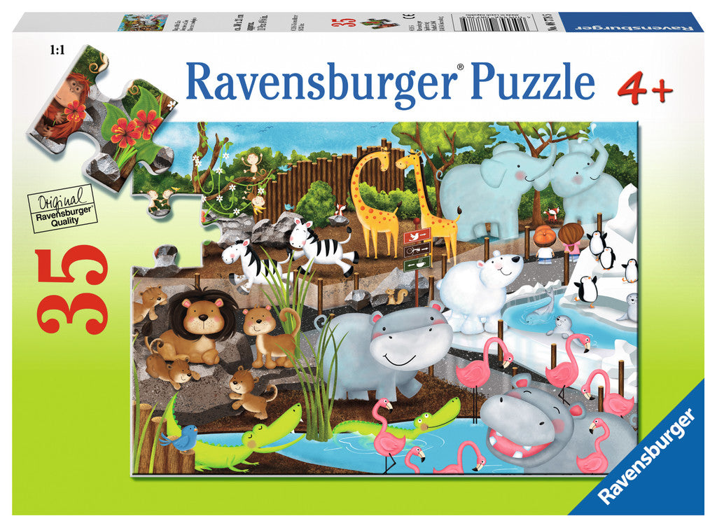 35 Piece Day At The Zoo Puzzle - JKA Toys