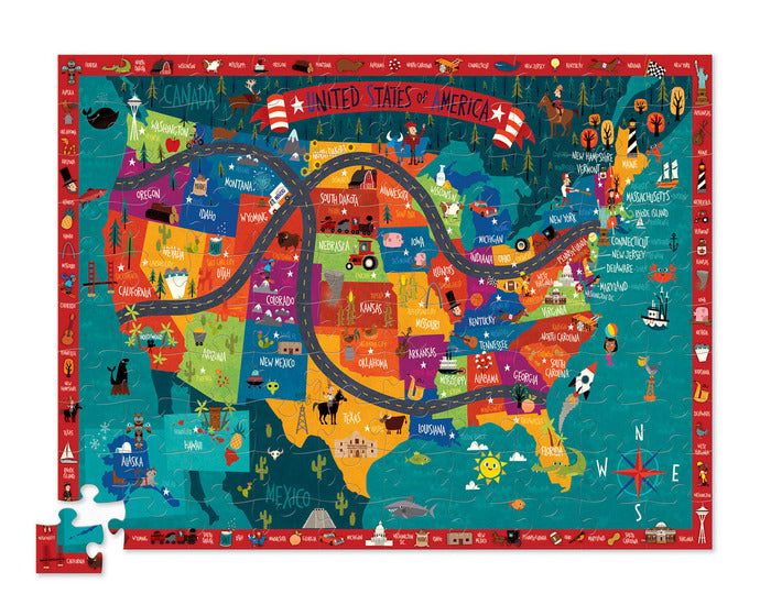 100 Piece Discover America Puzzle - JKA Toys