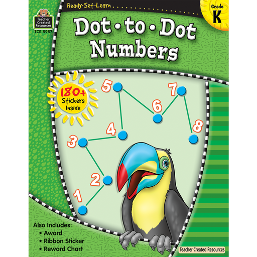 Ready Set Learn Workbook: Dot-To-Dot Numbers - Grade K - JKA Toys