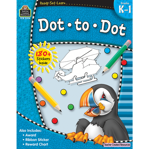 Ready Set Learn Workbook: Dot-To-Dot - Grades K-1 - JKA Toys