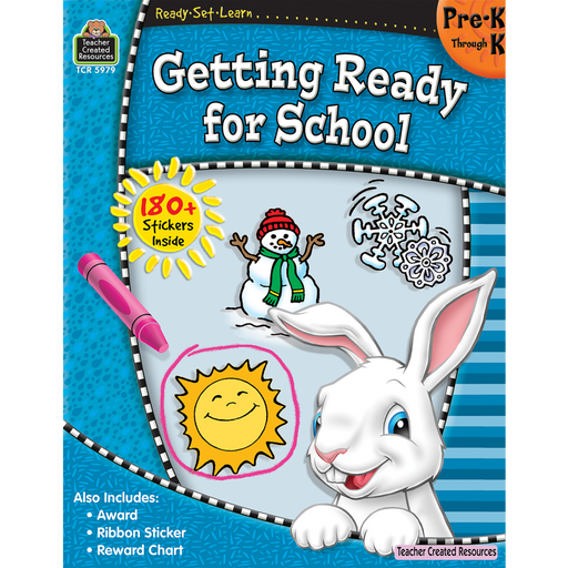 Ready Set Learn Workbook: Getting Ready For School - Grades Pre-K - K - JKA Toys