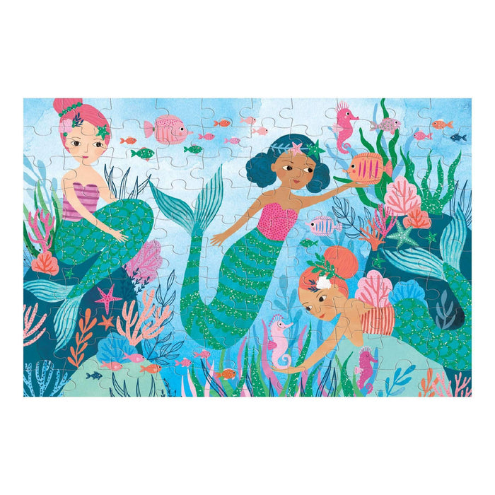 100 Piece Glitter Mermaid Puzzle - JKA Toys