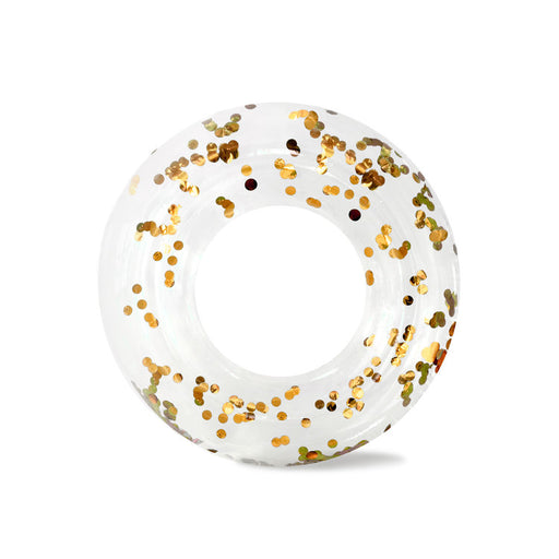 Gold Confetti Ring Pool Float - JKA Toys