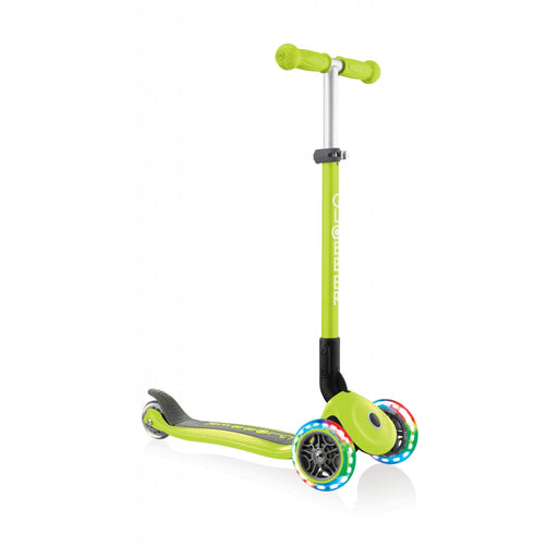 Globber Primo Green Foldable Scooter with Light Up Wheels - JKA Toys