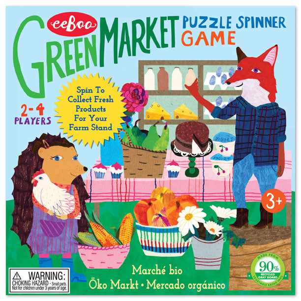 Green Market Puzzle Spinner Game - JKA Toys