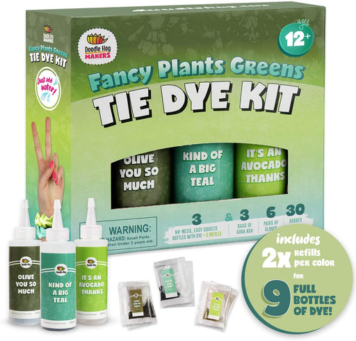 Fancy Plants Greens Tie Dye Kit - JKA Toys