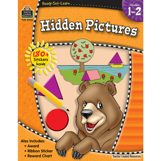 Ready Set Learn Workbook: Grades 1-2 -  Hidden Pictures - JKA Toys