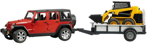 Bruder Jeep Wrangler with Trailer & CAT Skid Steer - JKA Toys