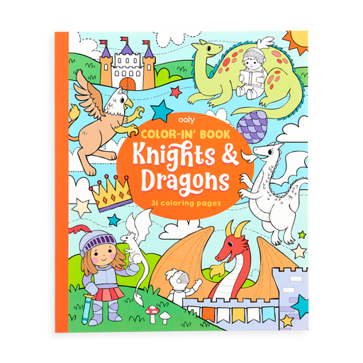 Knights & Dragons Coloring Book - JKA Toys