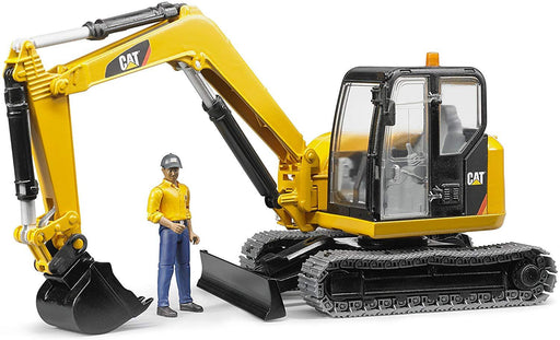 Bruder CAT Mini Excavator with Worker - JKA Toys