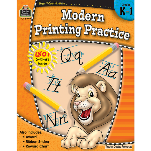 Ready Set Learn Workbook: Modern Printing Practice - Grades K-1 - JKA Toys