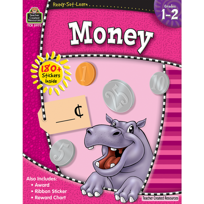 Ready Set Learn Workbook: Grades 1-2 - Money - JKA Toys