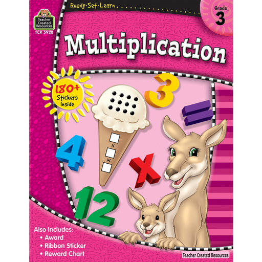 Ready Set Learn Workbook: Multiplication - Grade 3 - JKA Toys