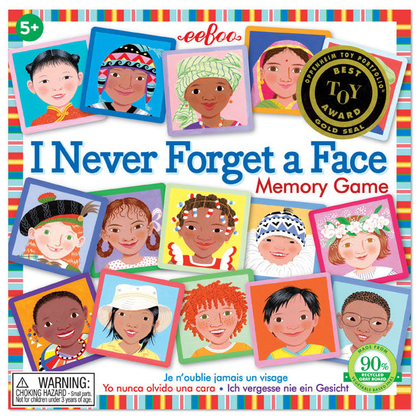 I Never Forget A Face Matching and Memory Game - JKA Toys