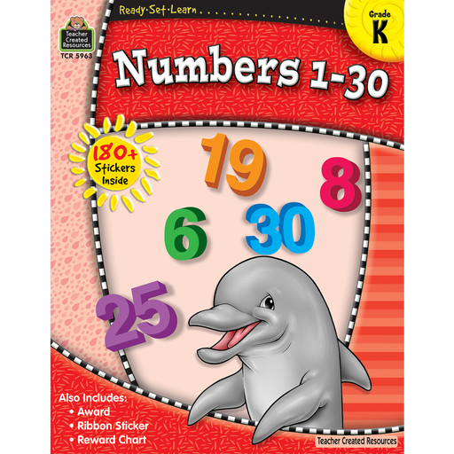 Ready Set Learn Workbook: Numbers 1-30 - Kindergarten - JKA Toys