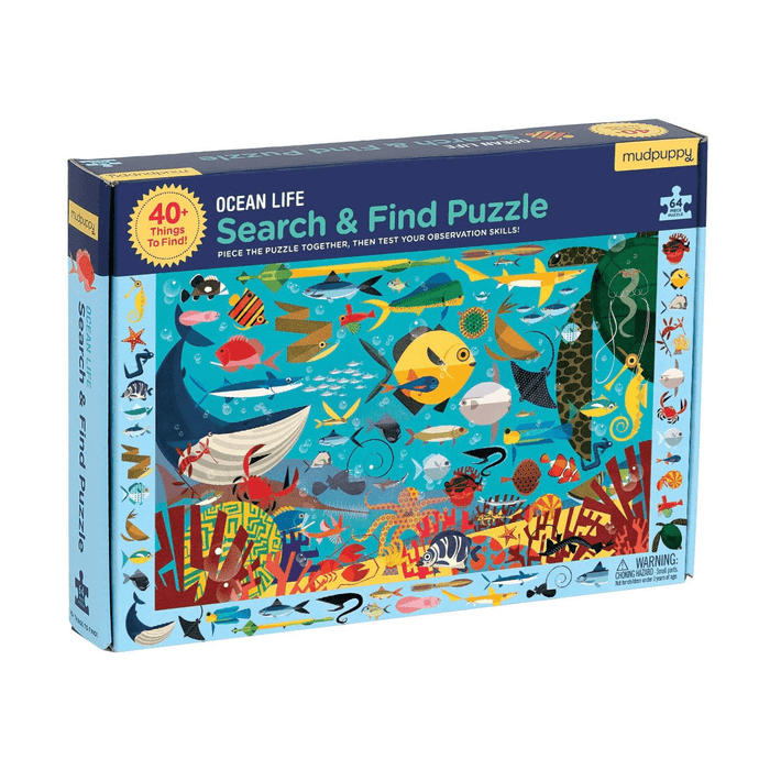 64 Piece Ocean Life Search & Find Puzzle - JKA Toys