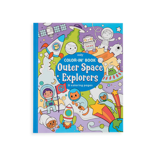 Outer Space Explorers Coloring Book - JKA Toys