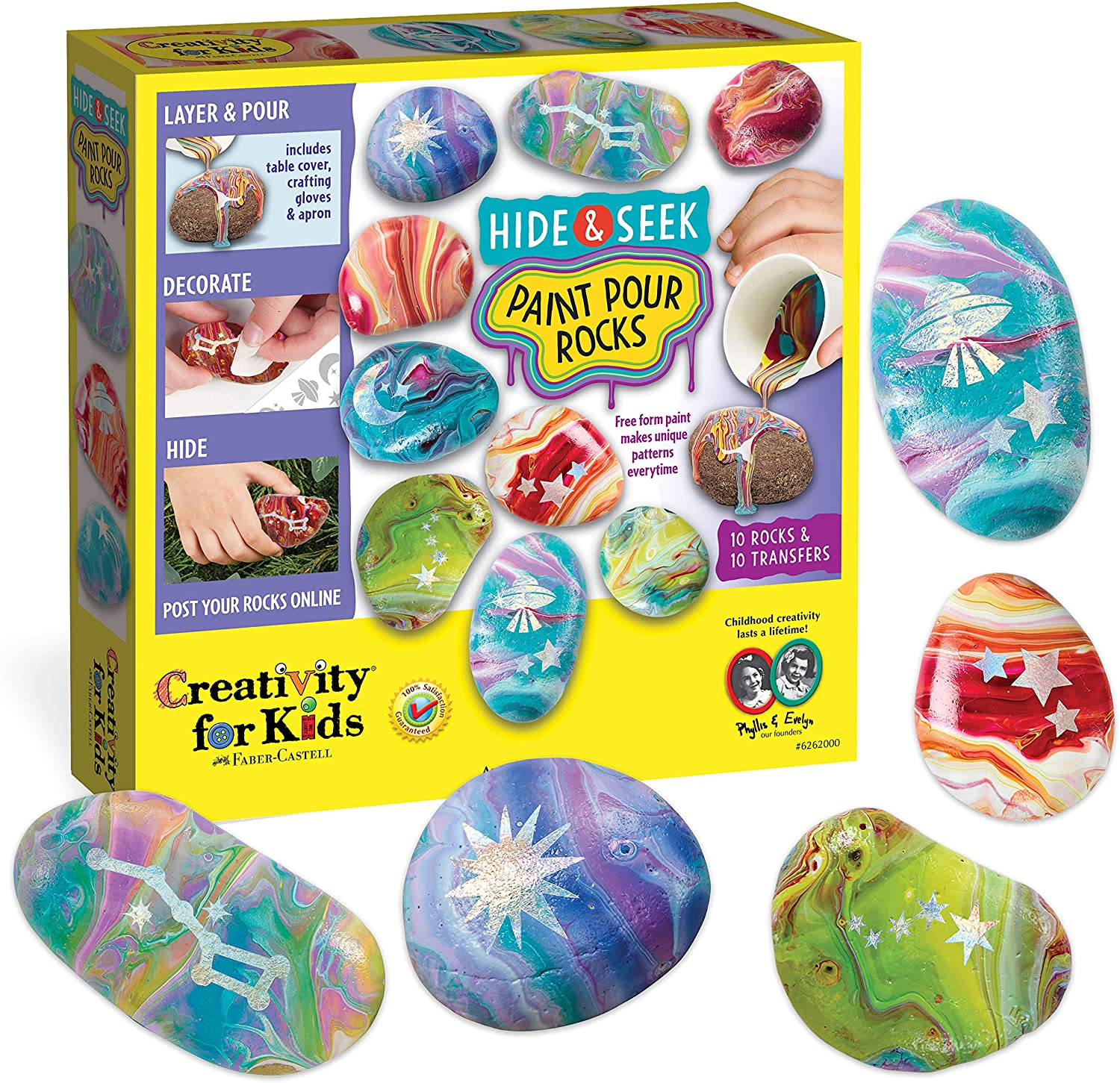 Hide & Seek Paint Pour Rocks - JKA Toys