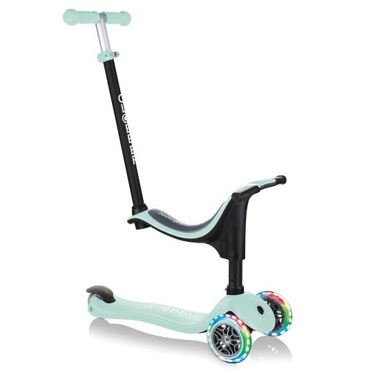 Globber Go Up 4 In 1 Pastel Green Scooter with Light Up Wheels - JKA Toys