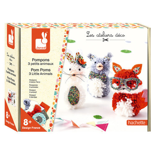 3 Little Animals Pom Pom Kit - JKA Toys