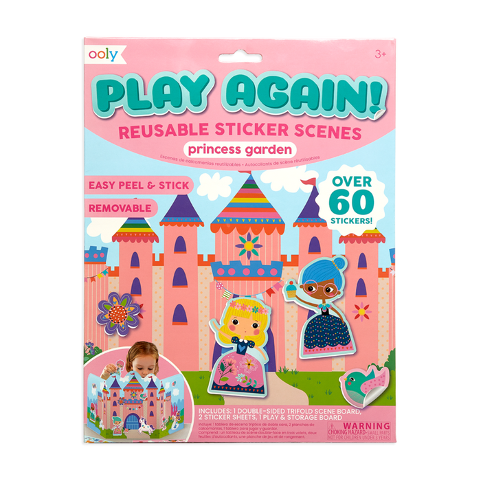 Play Again! Princess Garden Reusable Sticker Scenes - JKA Toys