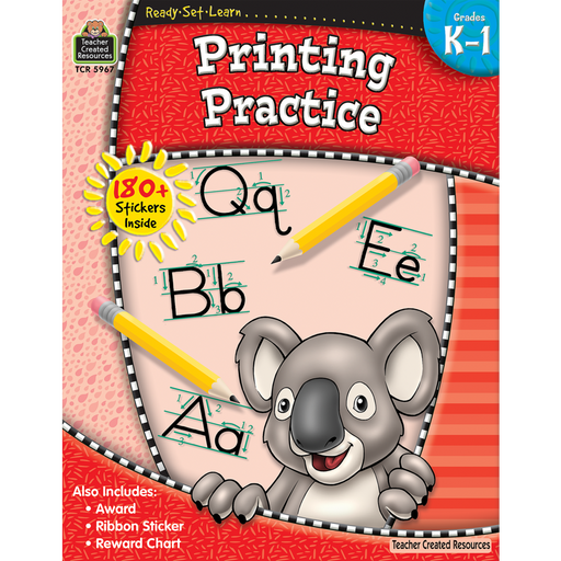 Ready Set Learn Workbook: Printing Practice - Grades K-1 - JKA Toys