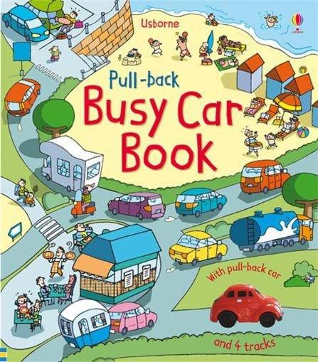 Pull-Back Busy Car Book - JKA Toys