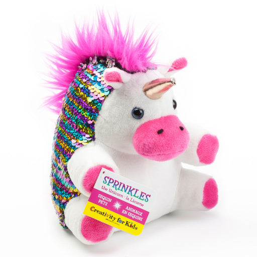 Sprinkles the Unicorn - Mini Sequin Pets - JKA Toys
