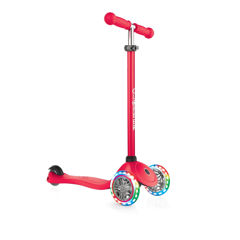 Globber Primo Red Scooter with Light Up Wheels - JKA Toys