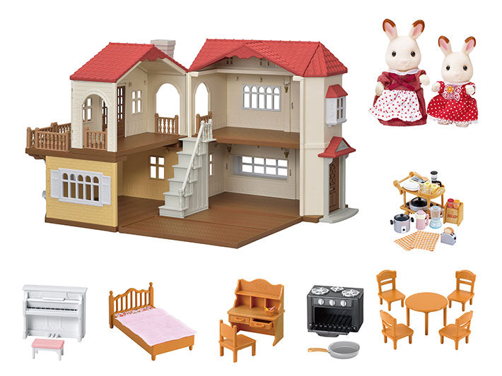Calico Critters Red Roof Country Home Gift Set - JKA Toys